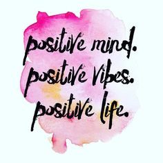 My mantra today and every day! Trying to stay motivated for my family, my business and my fitness.  Spread positivity and you will get t back ten fold!