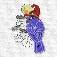 Free Embroidery Design: Halloween Bird