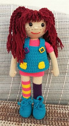 Crochet Amigurumi Free Patterns, Crochet Dolls, Free Crochet, Crochet Hats, Whoville Hair, Pippi Longstocking, Clothespin Dolls, Flower Fairies, Textiles
