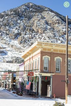 Georgetown Colorado- a charming town off in Colorado and the most adorable, romantic town at Christmas time! Colorado City, Moving To Colorado, Colorado Winter, Visit Colorado, Colorado Homes, Christmas Town, National Parks Usa, Ghost Towns, Rocky Mountains