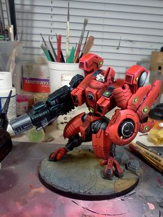 Tau Riptide in Red, Black and Green