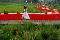 Red Ribbon Park /by Turenscape in Qinhuangdao, China