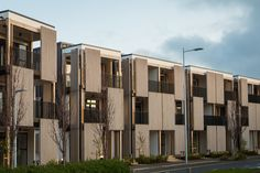 Vulcan Timber Screening in Sioo:x Natural Wood Finish Timber Screens, Natural Wood Finish, New Zealand, Multi Story Building, Interior Design, Facades, Blade, Home Decor, Nest Design
