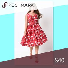 Beautiful swing dress! Beautiful NEW WITH TAGS swing dress! Hate to see it go but I need room in my closet! Queen of Hearts namebrand. ModCloth Dresses
