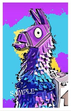 Fortnite's Rare Llama, Only three Llamas are created per match! Get this cute Llama hoodie from Fortnite, it looks great and perfect for gifts. Vexx Art, Game Wallpaper Iphone, Iphone Wallpapers, Cartoon Wallpaper, Llama Arts, Best Gaming Wallpapers, Epic Games Fortnite, Fun Games