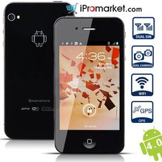 W007 Smart Phone Android 4.0 OS MTK6575 1.0GHz 3G GPS WiFi 3.5 Inch Multi-touch Capacitive Screen www.ipromarket.co..., $124.99