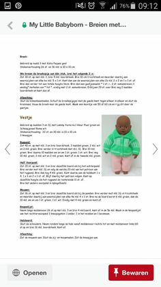 Doll Clothes Patterns, Clothing Patterns, Baby Bjorn, Jouer, Free Pattern, Dolls, Knitting, Dress Making, How To Make
