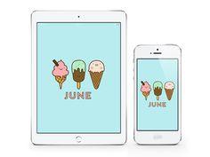 BFF Freebies: JUNE 2015 Wallpaper Calendar Planner | DESIGN IS YAY!
