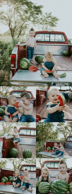 Watermelon baby photoshoot boy Ideas for 2019 Watermelon Photo Shoots, Watermelon Pictures, Watermelon Baby, Photography Mini Sessions, Children Photography, Photo Sessions, Family Photography, Photography Studios, Photography Marketing