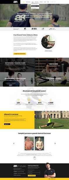 """Restyling Homepage """"Alessio Rinelli Personal Trainer Milano"""""""
