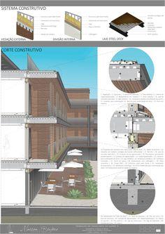 Maison de la Rivière ✯✯✯✯✯ Hotel # corte construtivo corte de pele section architecture corte detalhado corte perspectivado estrutura metálica light steel frame