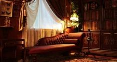 steampunk bedroom decorating ideas  Victorian Vintage antiques - steam punk Indu...