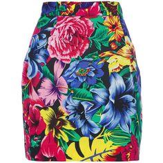 VERSACE VINTAGE floral mini skirt ($160) ❤ liked on Polyvore featuring skirts, mini skirts, bottoms, saias, faldas, high-waist skirt, floral print skirt, floral skirt, short mini skirts and multicolor skirt