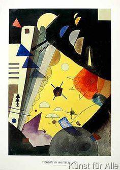 Wassily Kandinsky - Tension en Hauteur
