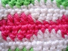 blocky stripes crochet stitch tutorial