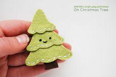 DIY Christmas Tree Felt Pin Tutorial