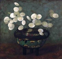 Jan Mankes (Dutch, 1889-1920), Honesty in a Japanese Vase, 1910. Oil on canvas, 32.5 x 27.5 cm.