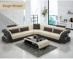 IFUNS China export modern design l shape sectional sofa set living room furniture corner chaise top grain italian leather (fr) Sofa Set Designs, L Shaped Sofa Designs, Modern Sofa Designs, Living Room Sofa Design, Living Room Modern, Living Room Designs, Corner Sofa Living Room, Home Living Room, Dining Room