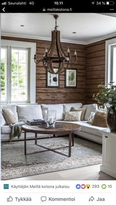 Log home interior - Living Room Color Trends A Touch Of Yellow For Summer – Log home interior Modern Houses Interior, Modern House, Home Decor, House Interior, Interior Design, Log Home Interior, Home And Living, Cabin Interior Design, Rustic House