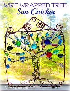 wire wrapped tree sun catcher...free tutorial!