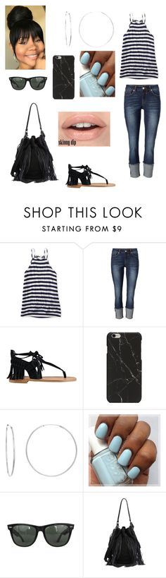 """""""Ew... why did I make this"""" by prettyswag123 ❤ liked on Polyvore featuring Aéropostale, Sigerson Morrison, Sterling Essentials, Ray-Ban and Loeffler Randall"""