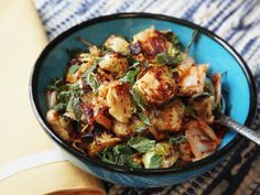 Brussels sprouts offer tons of flavor on their own when charred properly, but their layered leaves also make them great for picking up other flavors. In this recipe, we pack the flavors in with kimchi, honey, and fish sauce.