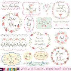 Floral Wedding Frames Save the Date Invitation by DesignbySiya