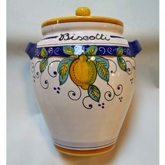 Handmade and hand painted in the Umbria region of Italy.