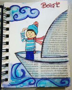 Boat drawriot2017 day17of365 Smurfs, Boat, Fictional Characters, Watercolor Painting, Dinghy, Boats, Fantasy Characters, Ship