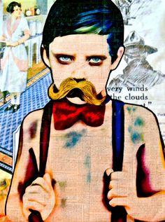 """Annie Terrazzo; Pencil, 2012, Drawing """"The Mustache"""""""