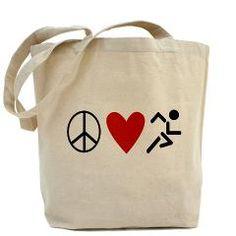 Peace Love Run Tote Bag> Bags & Wallets> The Run Home