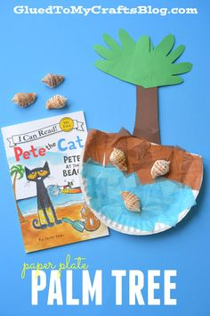 Paper Plate Palm Tree Kid Craft is part of Beach crafts Preschool - Paper Plate Palm Tree Kid Craft