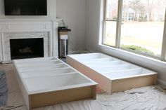 Good Snap Shots Fireplace Remodel before and after Popular Hottest Totally Free Fireplace Remodel with built ins Suggestions White Built-Ins Around the Firep Bookshelves Around Fireplace, Built In Around Fireplace, Fireplace Built Ins, Fireplace Remodel, Diy Fireplace, Living Room With Fireplace, Fireplaces, Fireplace Surrounds, Living Rooms