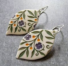 Porcelain earrings by Round Rabbit | by RoundRabbit