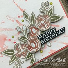 Perennial Birthday Stamp Set from the Stampin' Up! 2018 Occasions Catalog for GDP128 Case the Designer Challenge Card Created by Stesha Bloodhart, Stampin' Hoot! #steshabloodhart #stampinhoot #gdp128