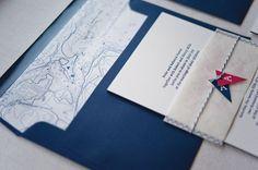 nautical map wedding invite - Google Search