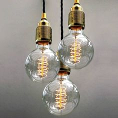Stunning three bulb pendant light from notontgehighstreet.com