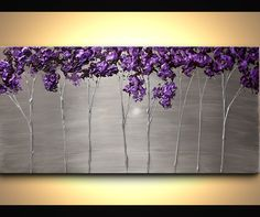 Prints Painting - Purple Scent #7409