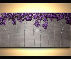 Landscape Painting - Purple Scent #6368