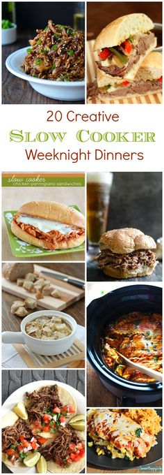 20 Creative Slow Cooker Weeknight Dinner Recipes For a busy mama like me, my slow-cooker is my secret weapon that helps me place a meal on the table every night. I sure do appreciate my it; it's like a personal chef. Crock Pot Food, Crockpot Dishes, Crock Pot Slow Cooker, Slow Cooker Recipes, Crockpot Recipes, Cooking Recipes, Meal Recipes, Pasta Recipes, Yummy Recipes
