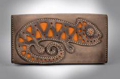Cartera de mujer accesorio artesanal elegante regalo original de cuero: Amazon.es: Hogar