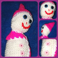 Smiley Sarah the Snowwoman  Snowman  Crochet by CraftyMillerJM  Don't miss out on the postage and savers offers available through Crafty Miller