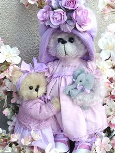 Violet and Lilac by By Shaz Bears | Bear Pile