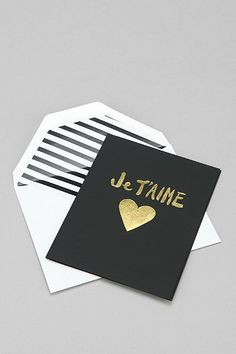 Je T'aime Card - Urban Outfitters