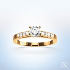 "Summer, sun and diamond rings. ""Ludia"" diamond ring in gold #yorxs #diamantring #gold #sommer"