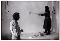 "Whitewashing an interior. ""A Greek Portfolio"" © Costa Manos/Magnum Photos Greece Pictures, Karpathos, Crete Island, Photographer Portfolio, Crete Greece, Magnum Photos, Street Photography, Nostalgia, Greek"