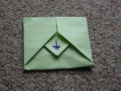 Turn Your Letter into its own envelope. Awesome!!! I've always wanted to know how to do this!!!