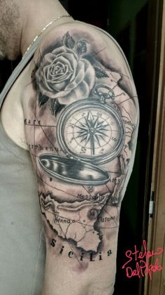 Compass map rose