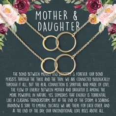 Mother Daughter Gift Necklace, Mother's Day Gift, Gifts for Mom, Mom Necklace, 2 Asymmetrical Circles set of 2 – Dear Ava Mother Daughter Necklace, Sister Necklace, Mother Day Gifts, Gifts For Mom, Dainty Diamond Necklace, To My Daughter, Daughter Quotes, Dad Quotes, Mother Quotes