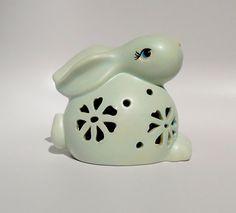 Easter Decor, Easter Decoration, Ceramic Bunny Rabbit, Outdoor Decorations, Indoor Decorations, Home Decor, Peter Rabbit, Tea Light